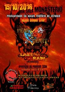 CARTEL HEART 2 HEART + LAST RAIN 2 MONASTERIO 15-10-2016