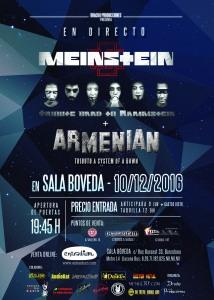 CARTEL MEINSTEIN + ARMENIAN  BOVEDA  10-12-2016